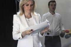 Eleições Romênia Gabriela Firea Fotos de Stock Royalty Free