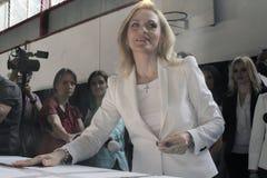 Eleições Romênia Gabriela Firea Imagem de Stock