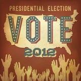 Eleição presidencial 2012 Foto de Stock