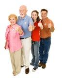Eleitores americanos isolados Fotos de Stock Royalty Free