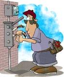 Elektricien royalty-vrije illustratie