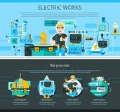 Elektricien One Page Design Royalty-vrije Stock Fotografie