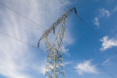 elektriciteit De lijnen van de macht Stock Afbeeldingen