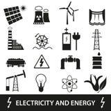 Elektriciteit en enegry pictogrammen en symbool eps10 Royalty-vrije Stock Afbeelding
