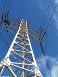 Elektriciteit pilon en kabels Royalty-vrije Stock Fotografie
