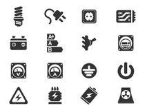 Elektriciteits eenvoudig pictogrammen Royalty-vrije Stock Fotografie