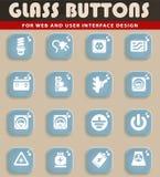 Elektriciteits eenvoudig pictogrammen Royalty-vrije Stock Afbeeldingen