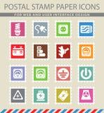 Elektriciteits eenvoudig pictogrammen Royalty-vrije Stock Foto