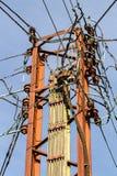 Elektriciteits Pylon, Brede Eik, East Sussex, het UK stock afbeelding