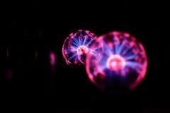 Elektriciteits statische vuurbol Stock Afbeeldingen
