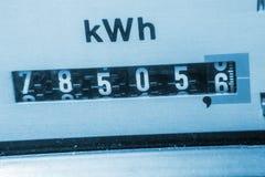 Elektriciteitsmeter Stock Afbeeldingen