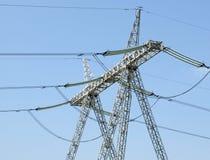 Elektriciteitspijler Stock Afbeeldingen