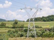 Elektriciteitspolen Stock Fotografie