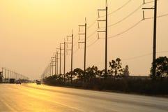 Elektriciteitspost Stock Foto's
