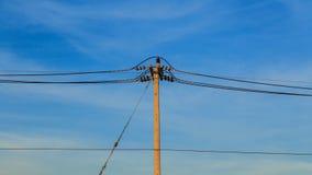Elektriciteitspost Royalty-vrije Stock Fotografie