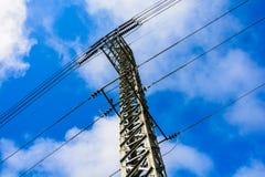Elektriciteitspost royalty-vrije stock afbeelding
