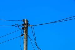 Elektriciteitspost Royalty-vrije Stock Foto