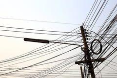 Elektriciteitspost Stock Foto