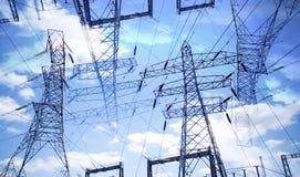 Elektriciteitspylonen Royalty-vrije Stock Fotografie