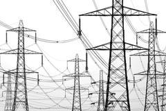 Elektriciteitspylonen Royalty-vrije Stock Afbeeldingen
