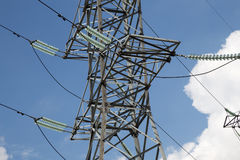 Elektriciteitspylonen en lijn Royalty-vrije Stock Fotografie