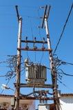Elektriciteitspyloon stock afbeelding