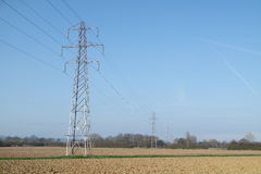 Elektriciteitspyloon/Transmissietoren Stock Fotografie
