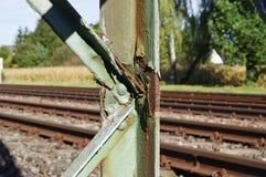 Elektriciteitspyloon voor spoorwegen Royalty-vrije Stock Foto