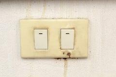 Elektriciteitsschakelaar stock foto's