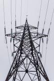 Elektriciteitstoren met hoogspanning Royalty-vrije Stock Afbeelding