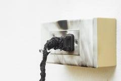 Elektricitet kortsluter royaltyfria foton