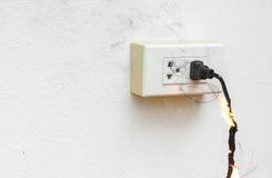 Elektricitet kortsluter royaltyfria bilder