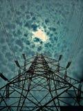 Elektricitet och perspektiv fotografering för bildbyråer