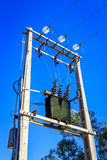 Elektricitet Pole Royaltyfri Bild