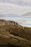elektricitet som frambringar strömwindwindmills Arkivbilder