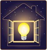 elektricitetsenergisymbol Arkivbild