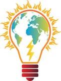 Elektricitetsglobal uppvärmning vektor illustrationer
