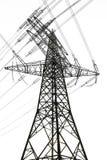 elektricitetslinjer driver pylonen Arkivfoton