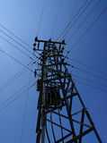 elektricitetspol Arkivbilder