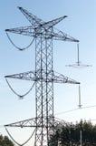 Elektricitetspol Arkivfoto