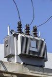 Elektricitetspoler och elektrisk isolering Royaltyfri Bild