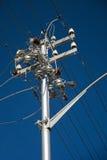 elektricitetspoltrådar Fotografering för Bildbyråer