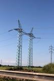 Elektricitetspyloner Royaltyfri Foto
