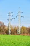 elektricitetspylons Royaltyfri Foto