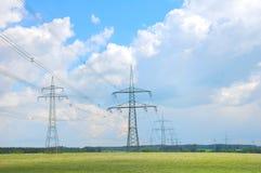 elektricitetspylons Royaltyfria Foton