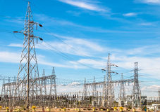 Elektricitetsstation Arkivfoto