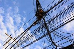 Elektricitetsstolpe Royaltyfri Bild