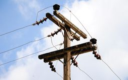 Elektricitetsstolpe Arkivfoto