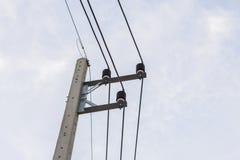 Elektricitetsstolpe Royaltyfria Foton