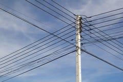 Elektricitetsstolpe Fotografering för Bildbyråer